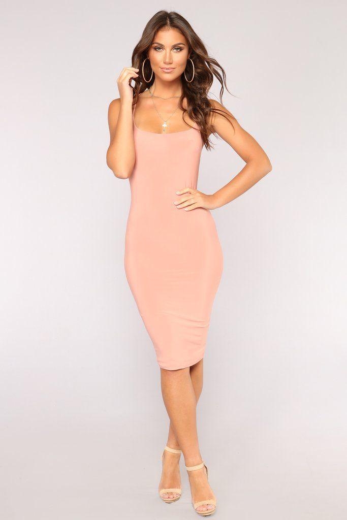 88cd7f91fcc Tiffany Midi Dress - Peach Club Dresses