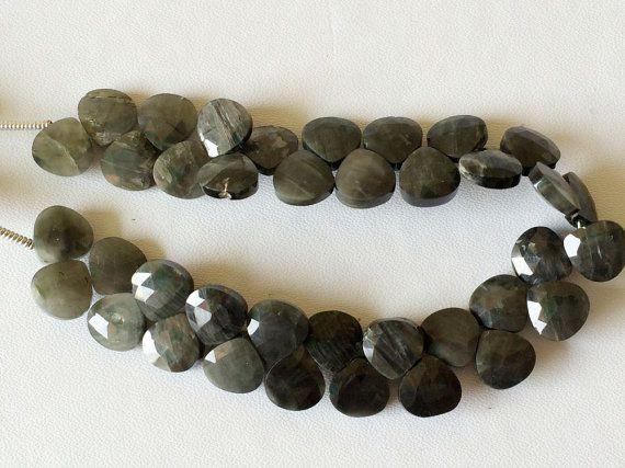 Grey Black Moonstone Beads Grey Black Faceted by gemsforjewels