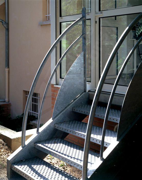Photo dt4 esca 39 droit escalier ext rieur au design for Escalier exterieur pour terrasse