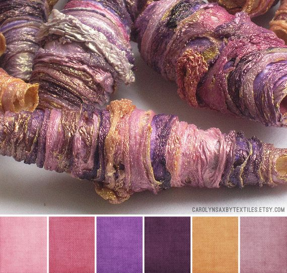 Carolyn Saxby Textiles - basically multiple colors on tyvek strips (it looks like...)