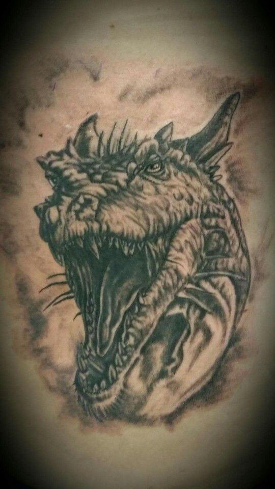 A firey tattoo done @ voodoo ink