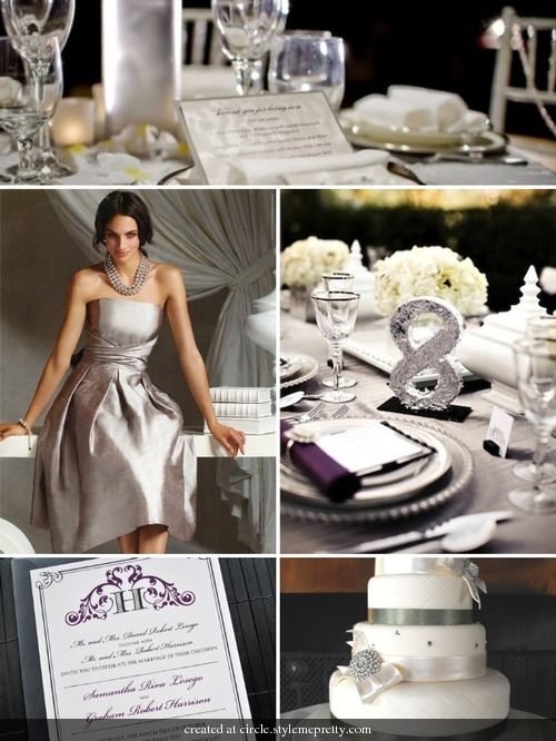 139 best purple blue wedding palette images on pinterest for Dress for 25th wedding anniversary
