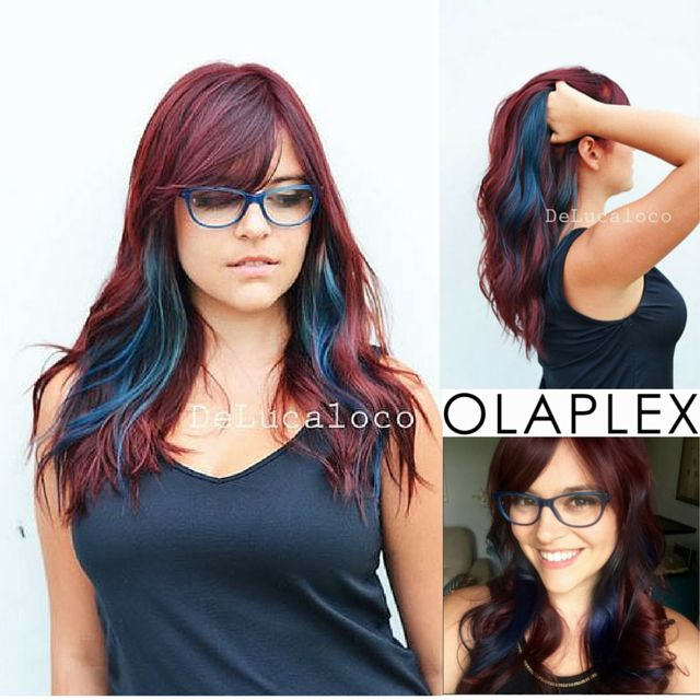"Introducing the ""The Patriot"" by celeb stylist @delucaloco (IG). Would you rock @abbyclairedanger's #redwhiteandblue #hair? We would :-) http://www.olaplex.co.za/"