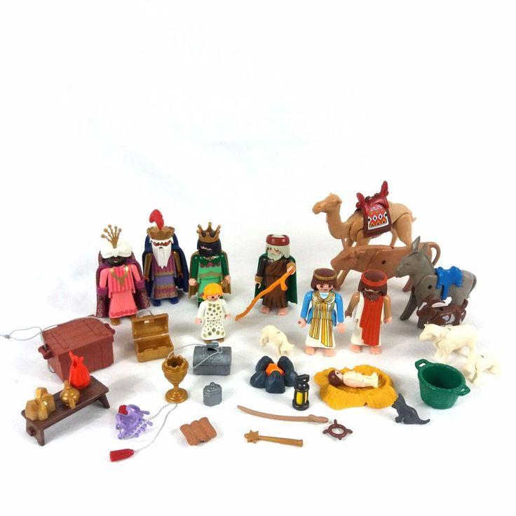 Playmobil Christmas Lot Nativity Set w Wise Men Set Jesus Mary Joseph Advent Toy #PLAYMOBIL