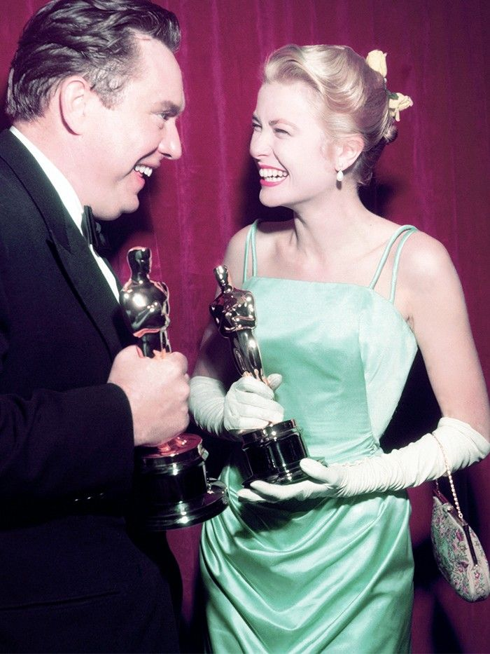 Most Charming, Part 2: Grace Kelly (1955) PHOTO: SILVER SCREEN COLLECTION/HULTON ARCHIVE/GETTY IMAGES - A Look Back at the Best Oscars Fashion Moments of All Time via @WhoWhatWear