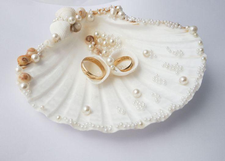 Ringkissen Muschel,Maritime Hochzeit von NL creations auf DaWanda.com