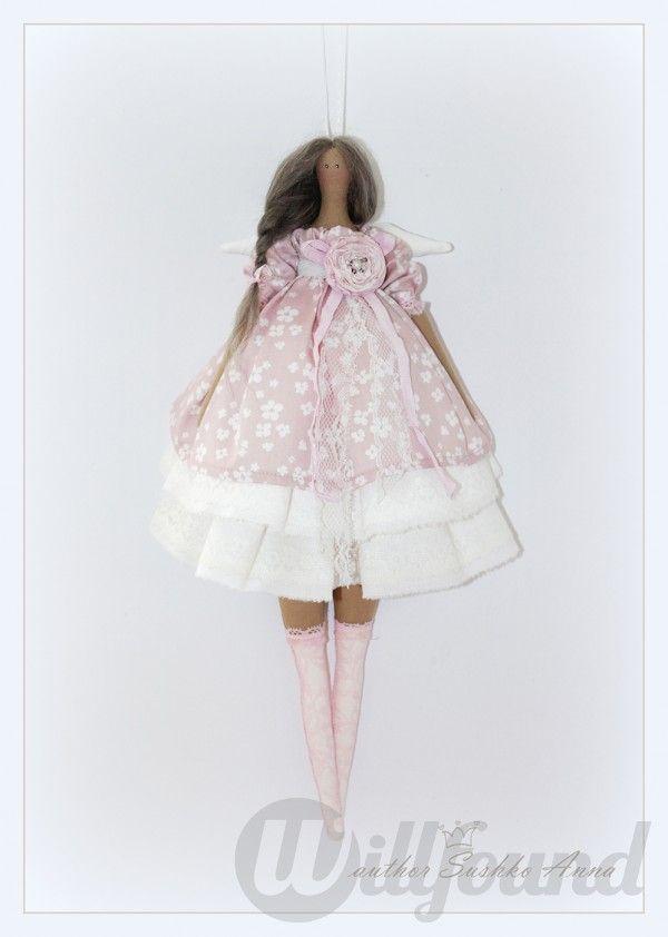 Нежный ангел в стиле Тильда. Текстильная кукла