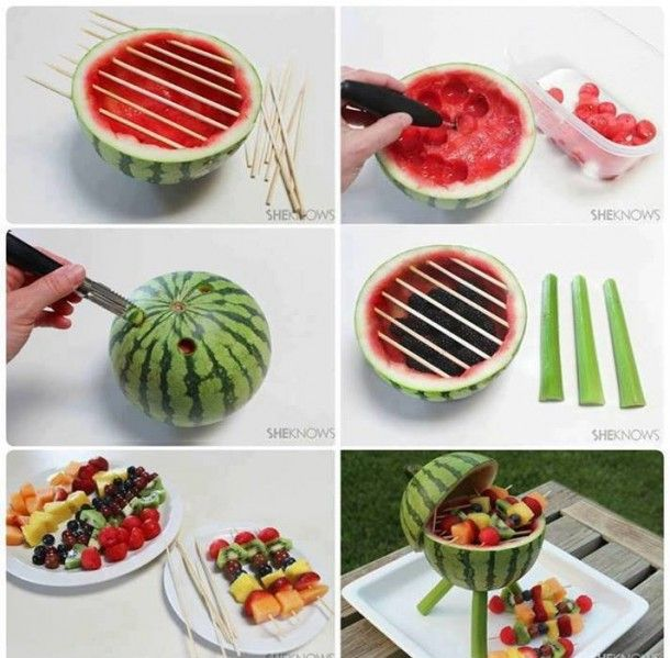 Fun and creative fruit display. I am doing this in Summer for sure!!!