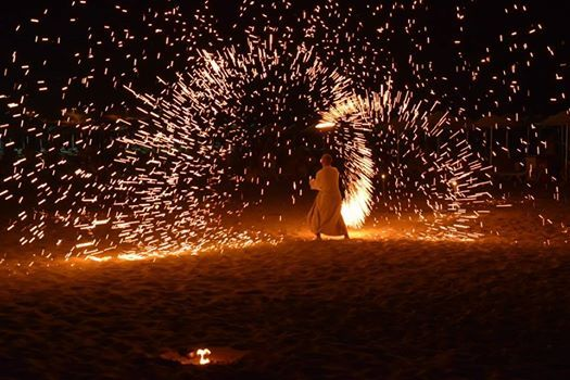 Fire Show in Aldemar Olympian Village and Royal Olympian!!