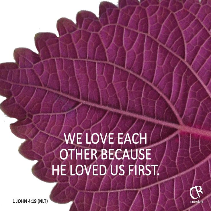We Love Each Other: We Love Each Other Because He Loved Us First.