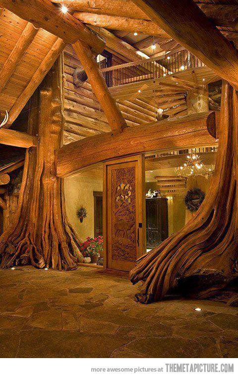 Amazing log cabin in British Columbia, Canada.