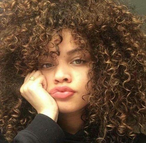 Curly Hair Of Girls Penteados Naturalmente Cacheados