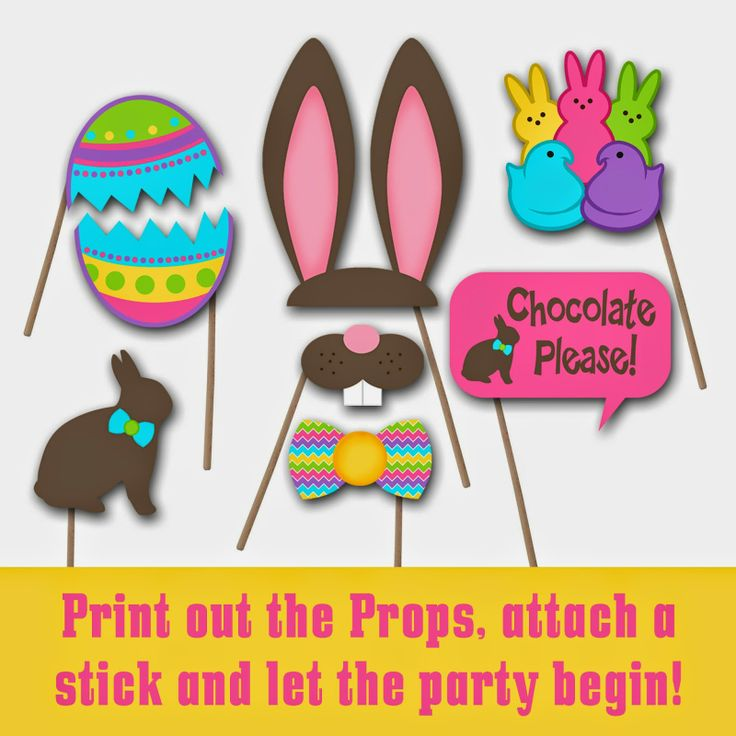 Easter Photo Booth Props and Decorations