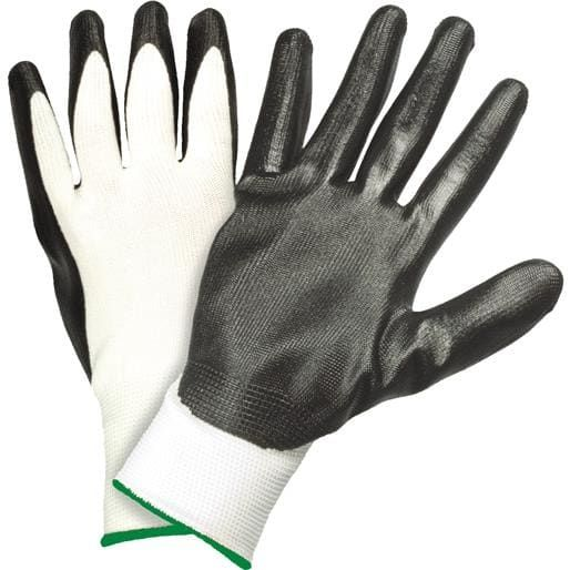 West Chester 5Pr Nitrile Coated Glove 37125-L5P Unit: PKG, Black