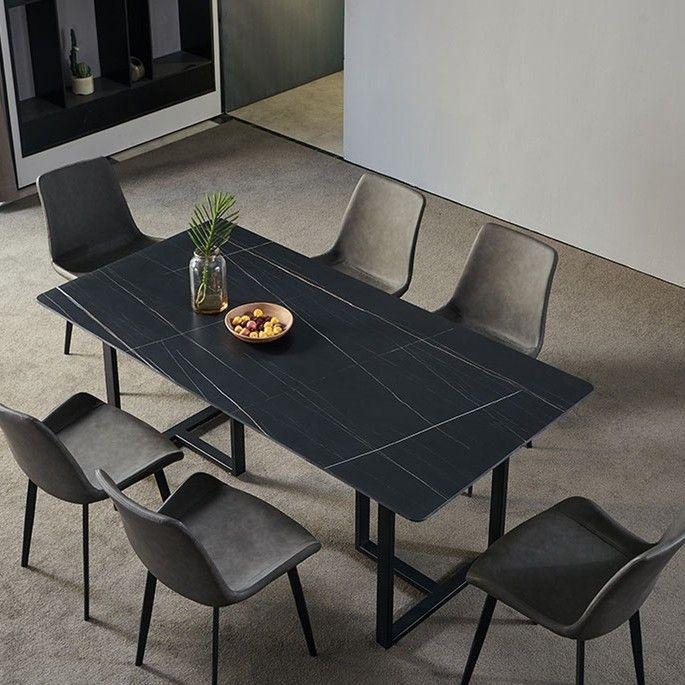 55 Stone Dining Table Dining Table Dining Table Black