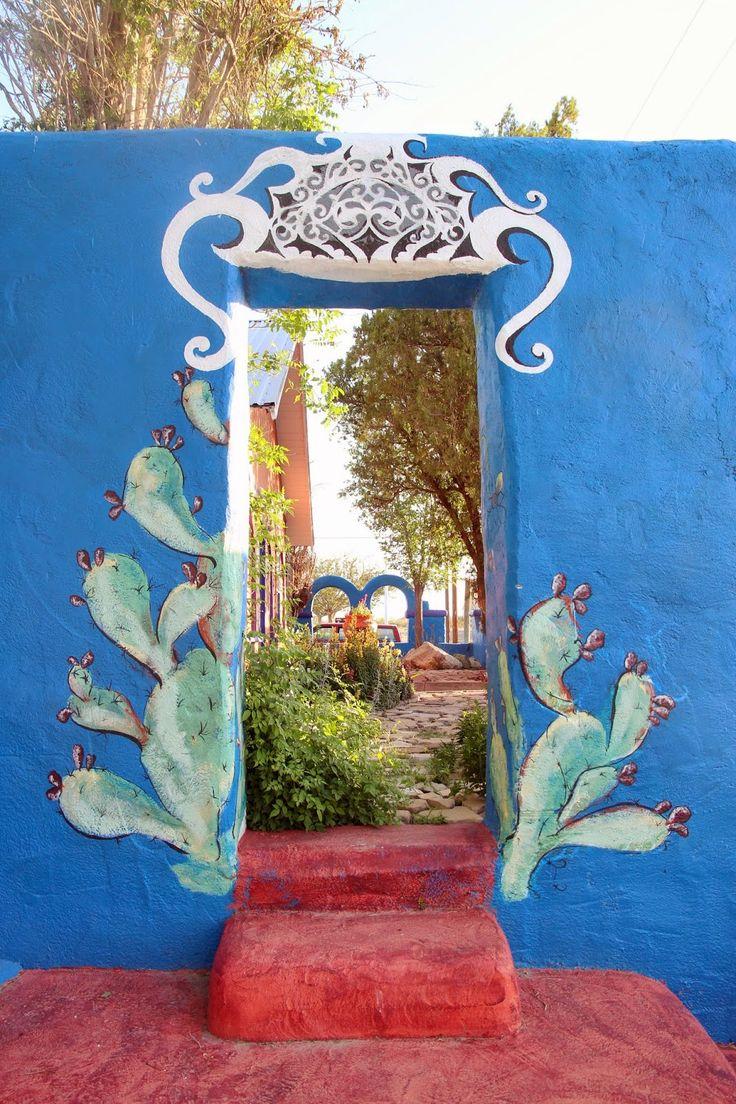 painted doorway at Eve's Garden Bed & Breakfast {Marathon, TX}
