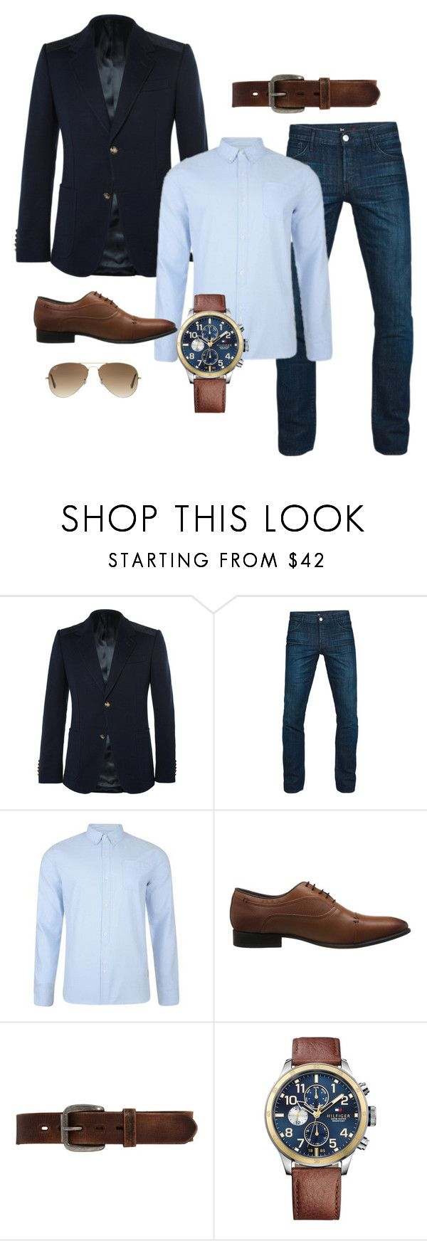 """""""outfit men"""" by andres-aldana-ad on Polyvore featuring Gucci, 3x1, Bellfield, Hush, Bed