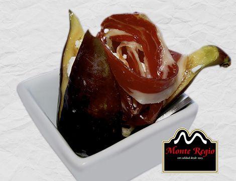 Brevas rellenas de jamón ibérico #MonteRegio y crema de queso ¿eres capaz de resistir la tentación?
