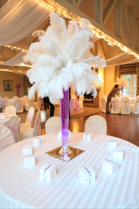 Tall Centerpieces With Feathers : Best images about wedding centerpieces on pinterest