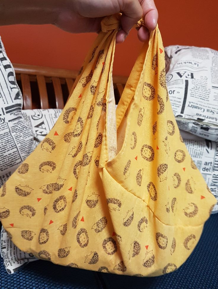 Hedgehog print Handstitched Azuma Bukuro  www.handicraftpassion.blogspot.com Email: handicraftpassion@gmail.com