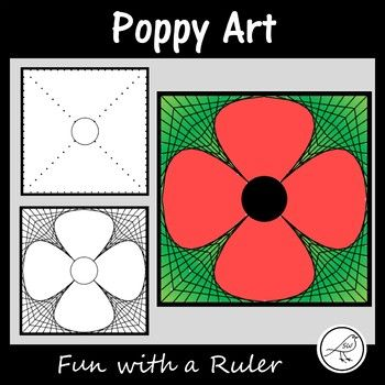 A Fun with a Ruler art project for your students to complete leading up to Remembrance Day / Memorial Day / Armistice Day / Anzac Day.This project involves your students ruling straight lines between 2 dots on a template, to create a poppy.  Your students could write something in the petals before colouring (eg facts, opinons, a 4 line poem, etc).