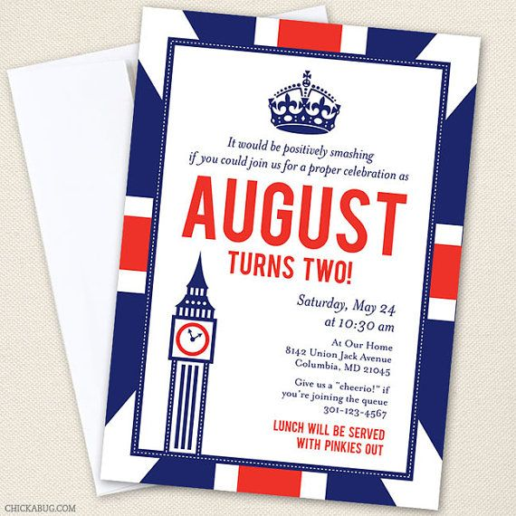 Union Jack party...lots of darling party printables!  {Chickabug}