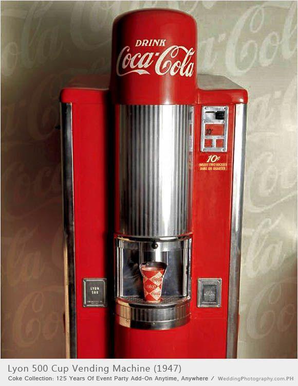 The Lyon 500Cocacola Vending, Vending Machine, Coca Cola Machine, Coke Machine, Cola Vintage, Coca Cola Vending, Coke Cola, 500 Cups, 500 Vending