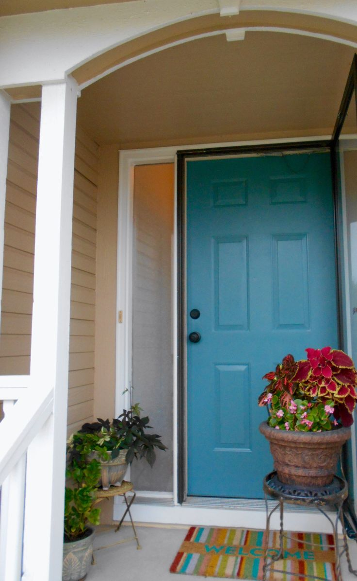 26 best colors for outside front door images on pinterest - Exterior doors that open to the outside ...