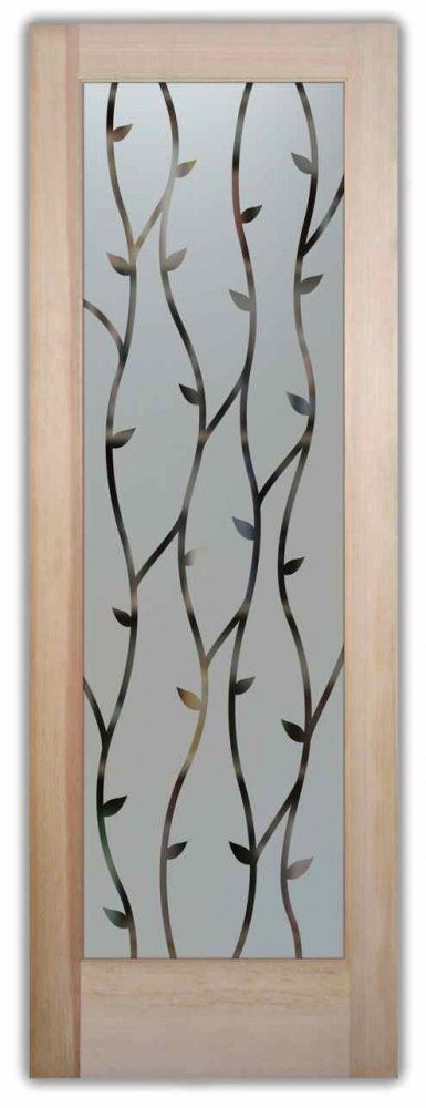Interior Frosted Glass Doors Clear Glass Wrought Iron Etched Glass