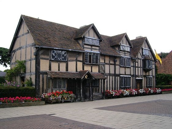 Shakespeare birthplace in Stratford-upon-Avon