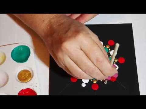 After many requests, I have created a fun little video showing me painting one of my Jewel Drop Mandala Stones. Video has been sped up approximately 6x its o...