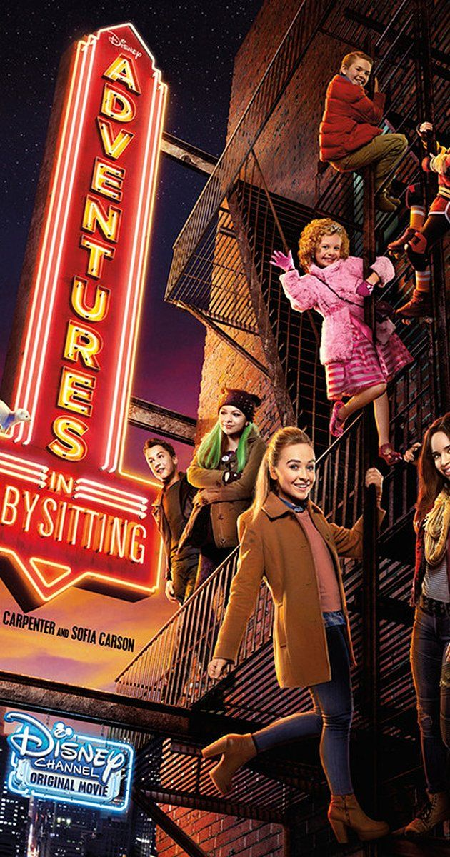 Adventures in Babysitting (TV Movie 2016) Adventure Comedy Family.  Two teen rival babysitters, Jenny and Lola, team up to hunt down one of their kids who accidentally runs away into the big city without any supervision.
