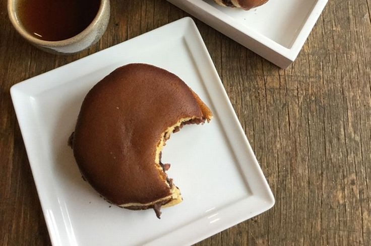 Sweet Japanese honey pancakes with an unusual filling
