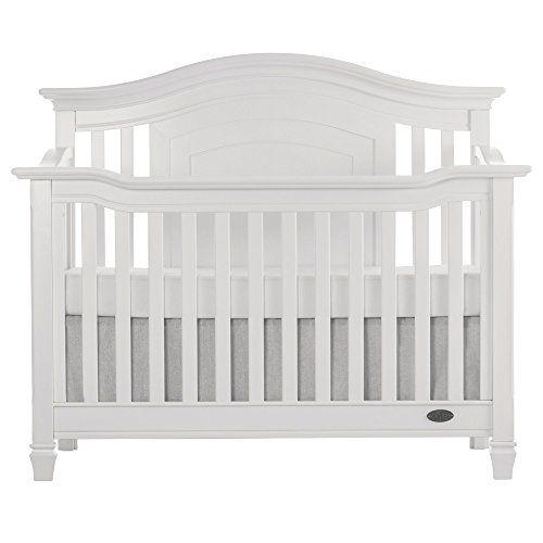 Evolur Fairbanks 5-in-1 Convertible Crib Winter White