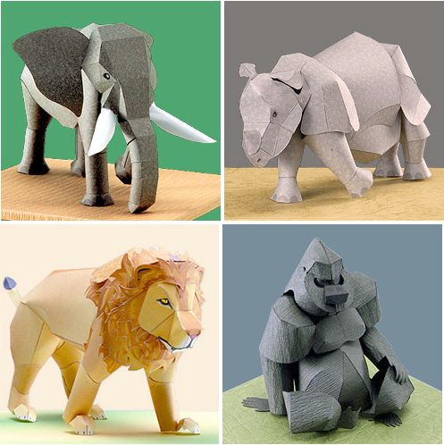 Rare Animals Papercraft