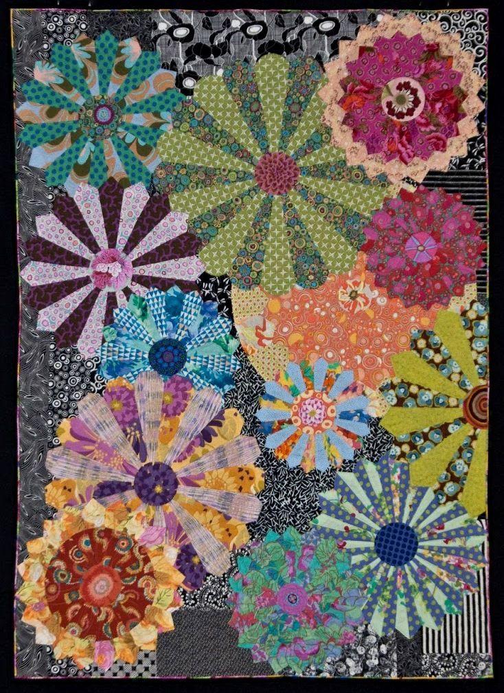 """My Flower Plates"" by Candyce Copp Grisham. Dresden plate quilt"