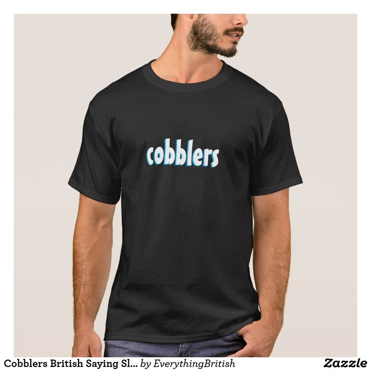 Cobblers British Saying Slang Black