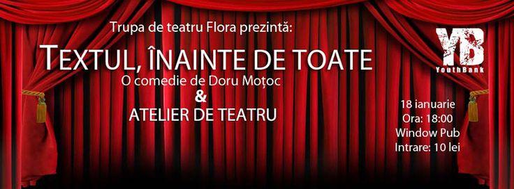 Textul, înainte de toate - Doru Motoc & Atelier de Teatru http://www.evenimenteinoradea.ro/distractie/46-happenings/644-textul-inainte-de-toate-de-doru-motoc-atelier-de-teatru