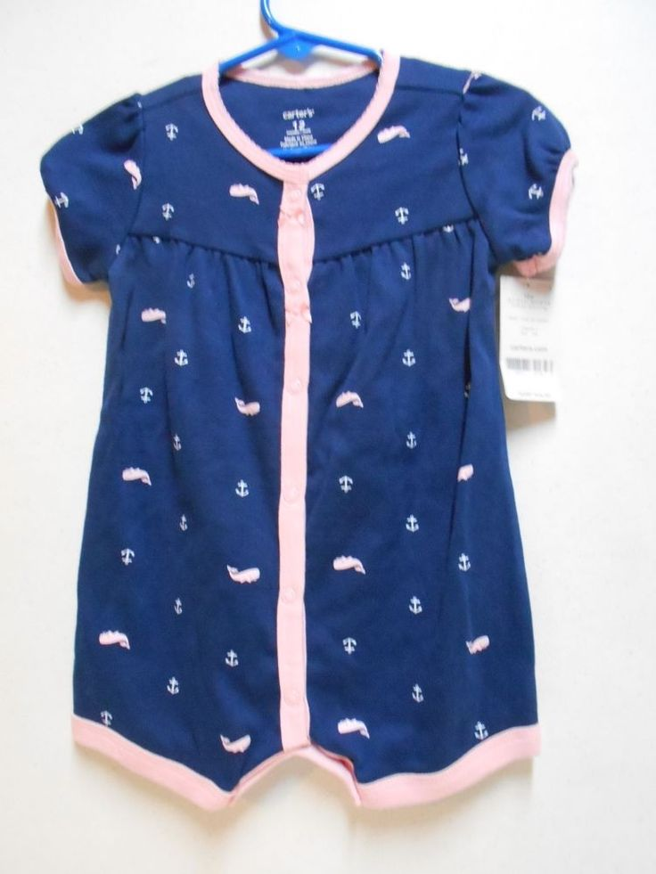 Adorable Sailor Anchors One Piece Shorts Set NEW W/Tags SIZE 12 Month Girl's #Carters #Everyday