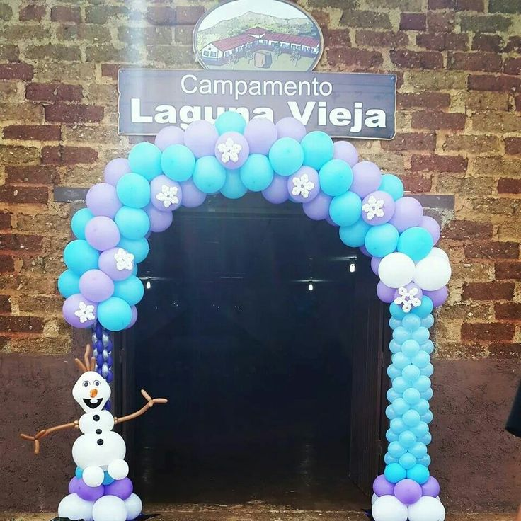 Frozen arch balloon archs arco con globos pinterest for Decoracion simple con globos