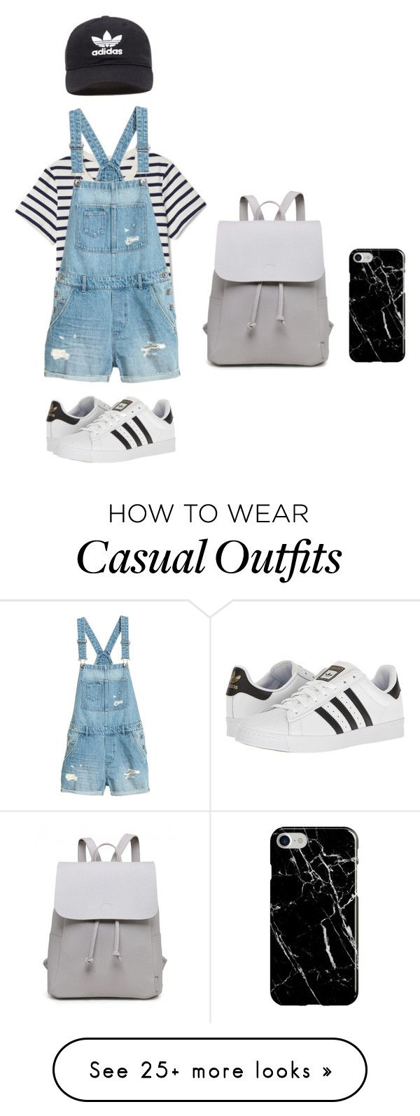 """Casual Adidas"" by sarahmrachel on Polyvore featuring adidas, adidas Originals and Recover"