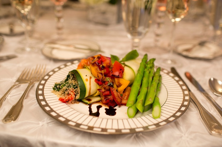 A vegetarian wedding option, Zucchini Rollatini, by the Casual Gourmet.