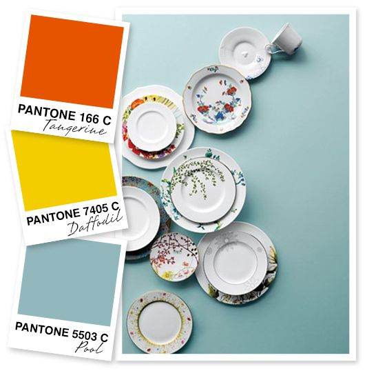 For office?: Orange, Yellow and Blue Gray Color Palette by Sarah Hearts
