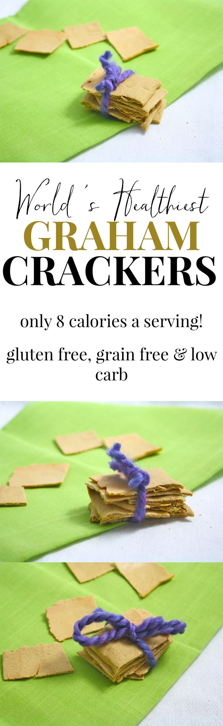 Eight calorie homemade graham crackers. 8 calories!! This recipe has made my beloved s'mores forever better. Now I can have as many as I want!