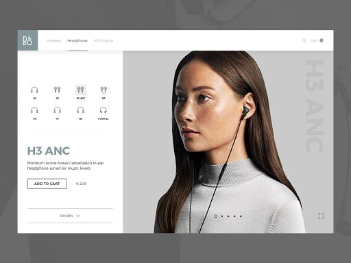 Bang & Olufsen product page