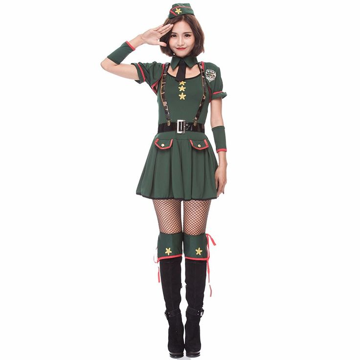 halloween costumes cosplay club party night club costume military green police costume sailor clothes cosplay costume 9Pcs/set