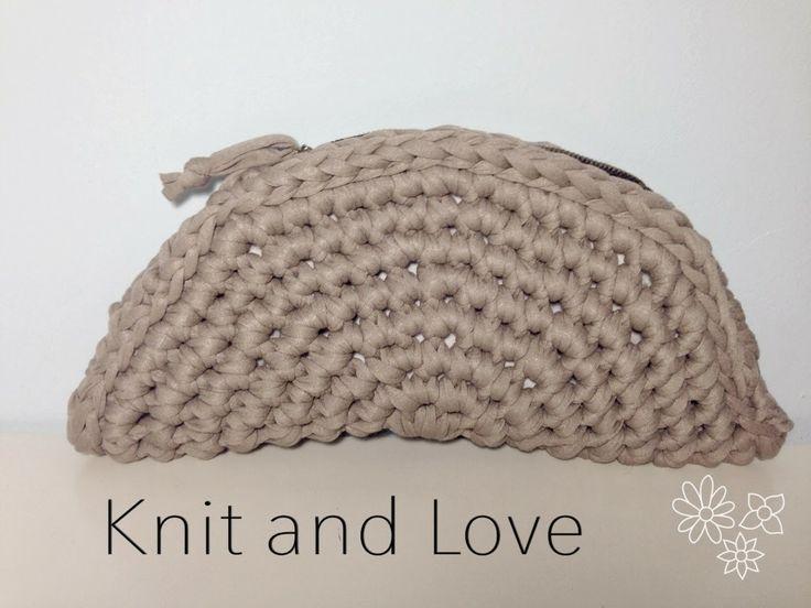 Knit and Love : BOLSO ABANICO DE TRAPILLO TUTORIAL