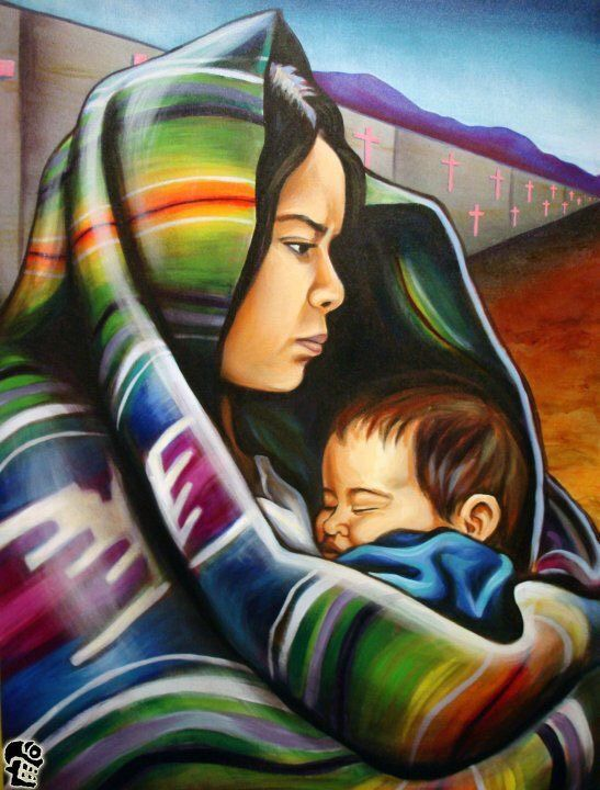Laurita Tortolita - Mexican mother and child. Mexican Artwork, Mexican Paintings, Mexican Folk Art, Mexican Artists, Mother Art, Mother And Child, Airbrush Art, Hispanic Art, Latino Art
