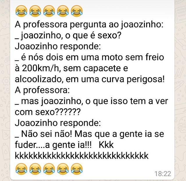 Joãozinho explica o que é sexo