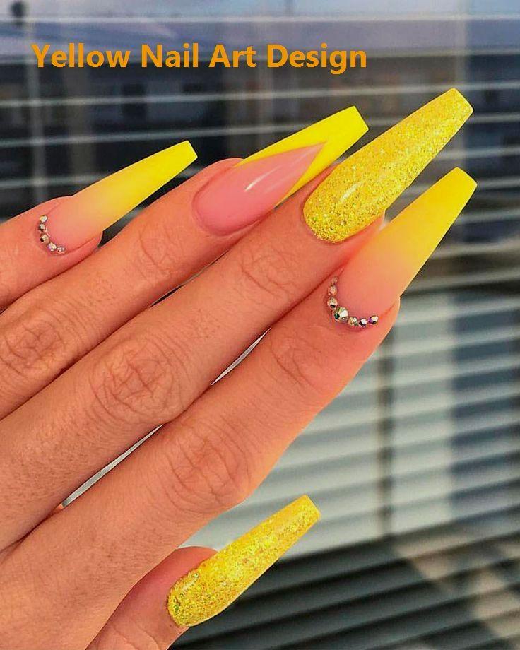 Beste gelbe Nail Art Designs für den Sommer 2019